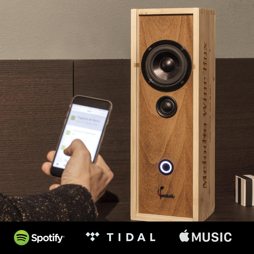 MelodiaWineBox Bluetooth Spotify Apple Music Tidal